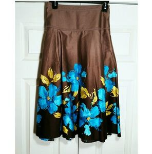 Jones Wear midi floral skirt, sz 10